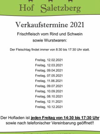 Hof Saletzberg | Direktvermarktung von Rind und Schweinefleisch sowie Wurstwaren | Ab Hof Verkauf-